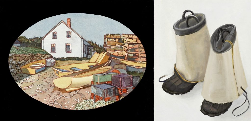 Monhegan Boats and Boots